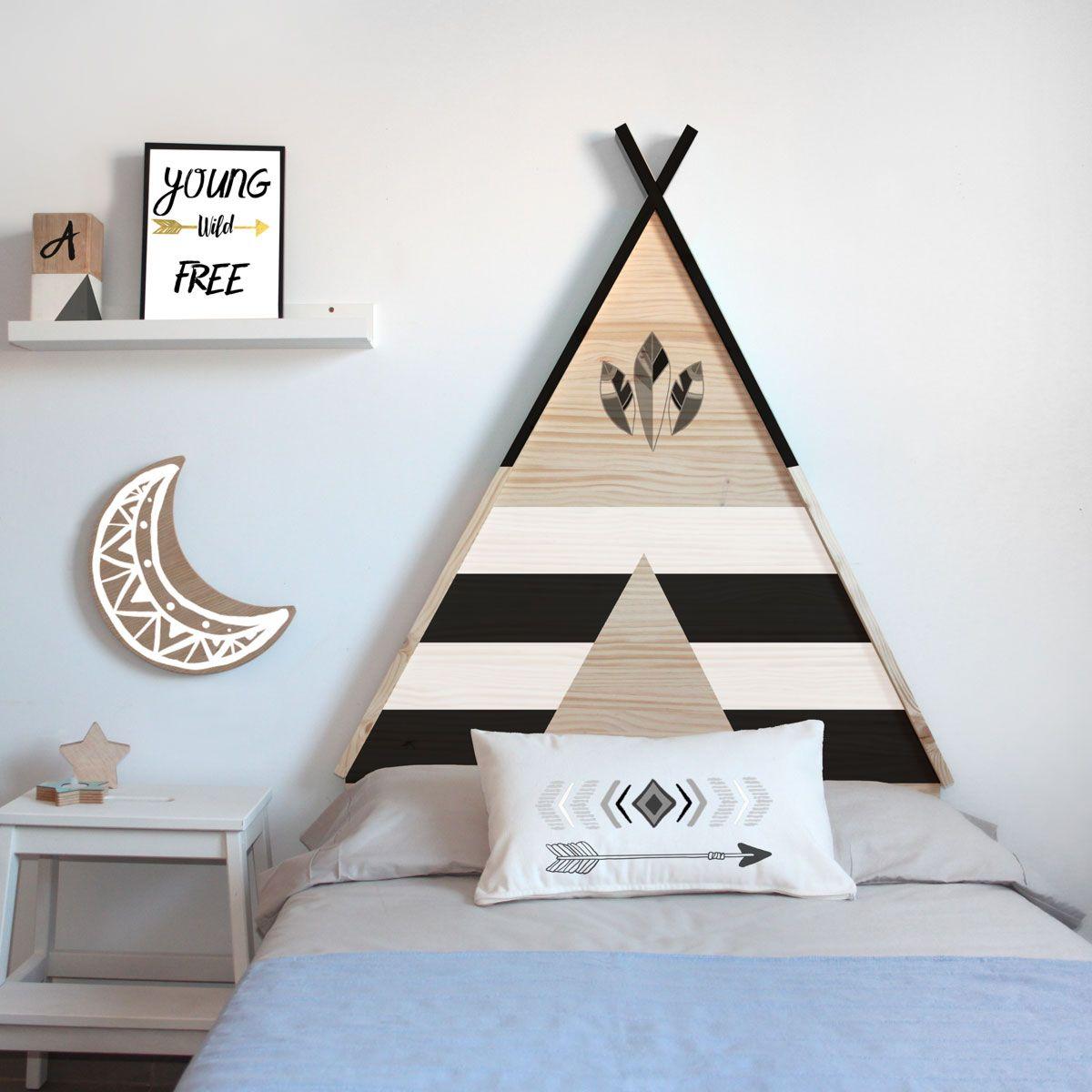 Cabecero de cama infatil tipi | Ideas para dormitorios | Pinterest ...
