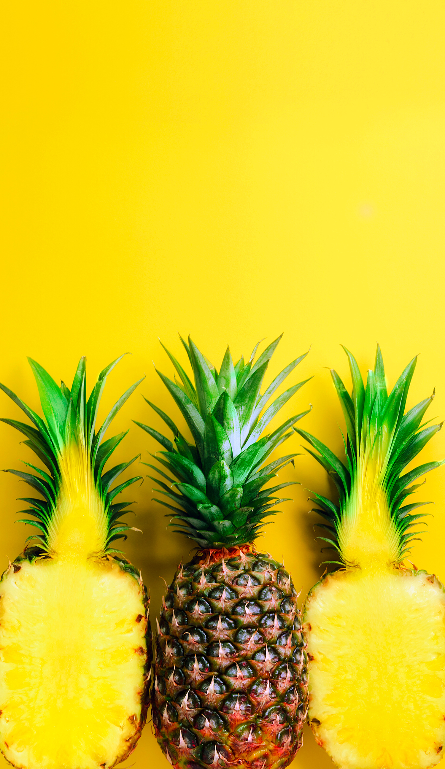Wallpaper lockscreen pineapple yellow // обои ананас