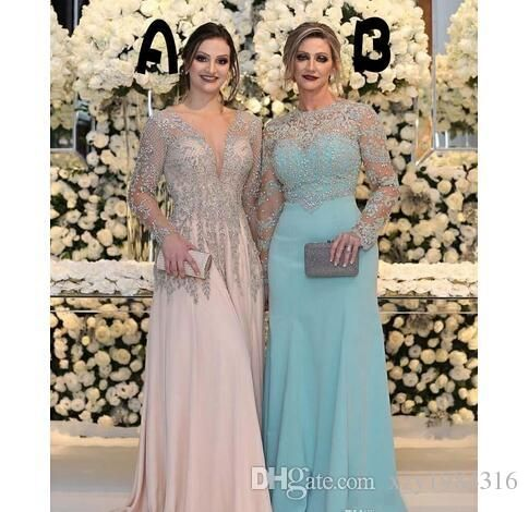 89a5c6c9c65d Graceful Silver Short Mother Of The Bride Dresses With 3 4 Sleeves Lace  Appliques Pleats