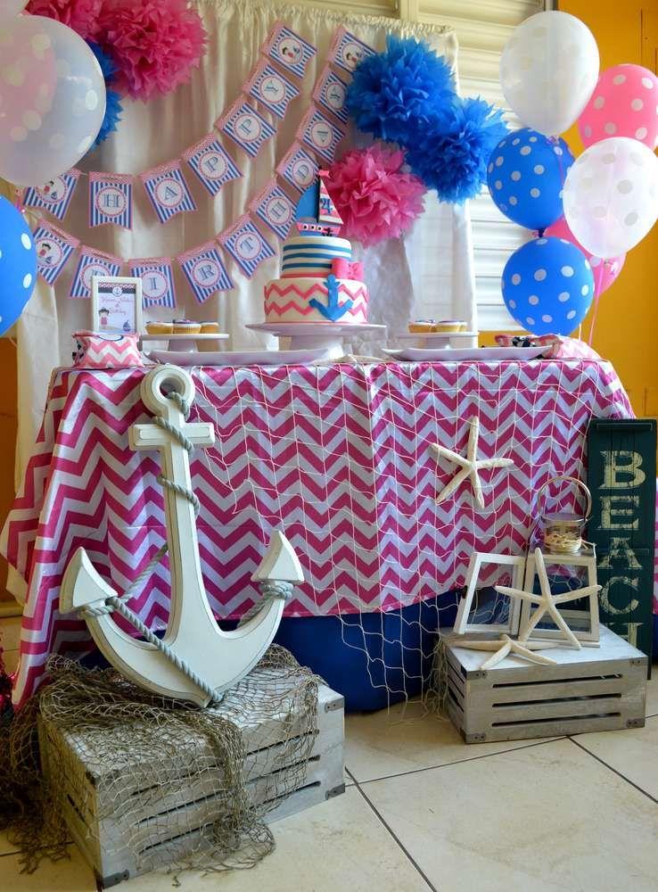 Nautical Birthday Party Ideas | Pinterest | Cumpleaños, Fiestas y Cumple