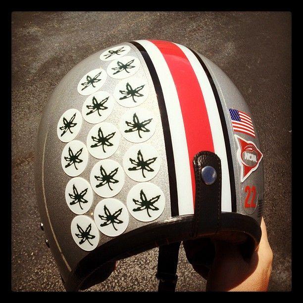 the latest 63697 c33ce Cool custom Ohio State Buckeyes motorcycle helmet.