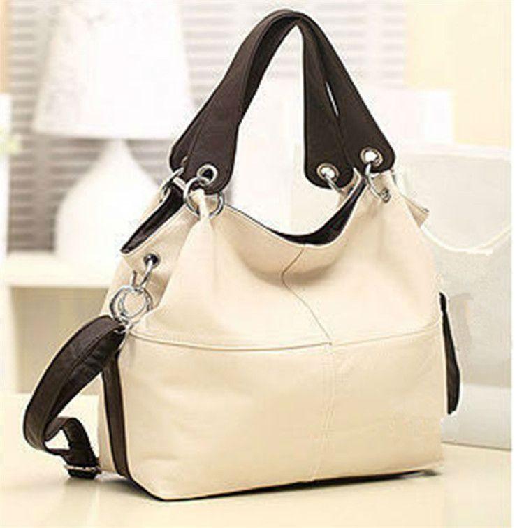 Women Versatile Handbag Soft Offer PU Leather Bags Zipper Messenger Bag/ Splice Grafting Vintage Crossbody Bags F009
