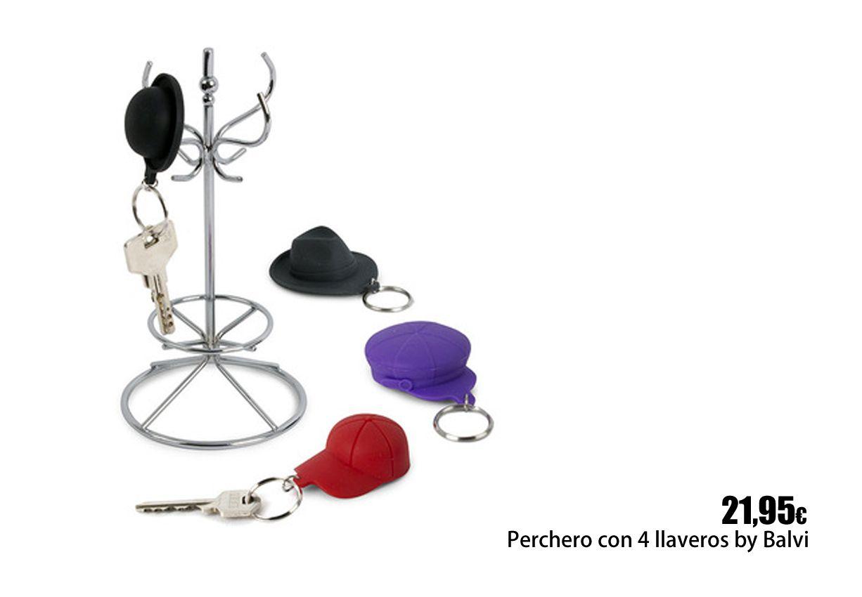 Perchero con 4 llaveros sombreros percheros y porta - Percheros para sombreros ...