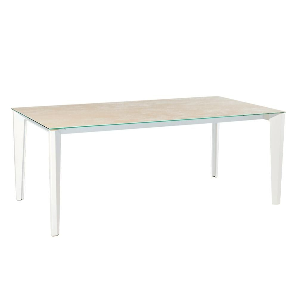 Vancouver modern furniture diamante glass extension dining table moes