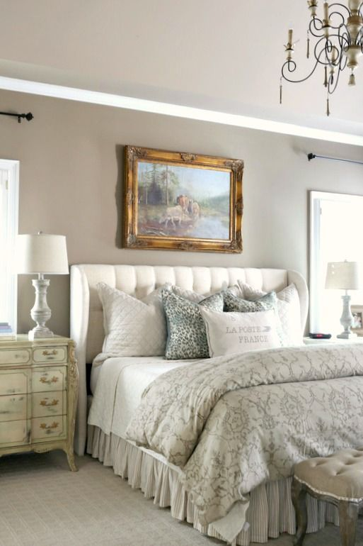 fascinating country bedroom design | Leopard, Cows and Tufting...oh my! | French country ...