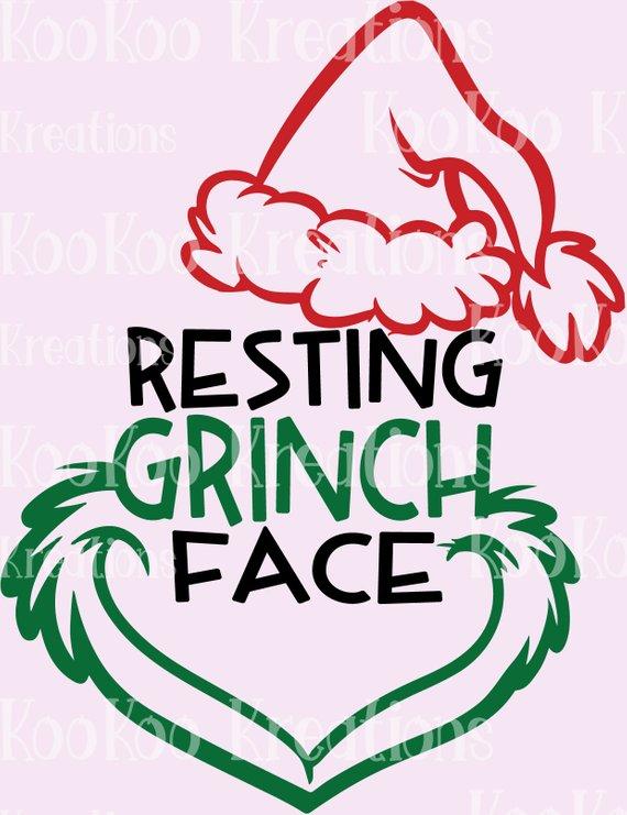 0763cb11d7db5 Resting Grinch Face - Cut File