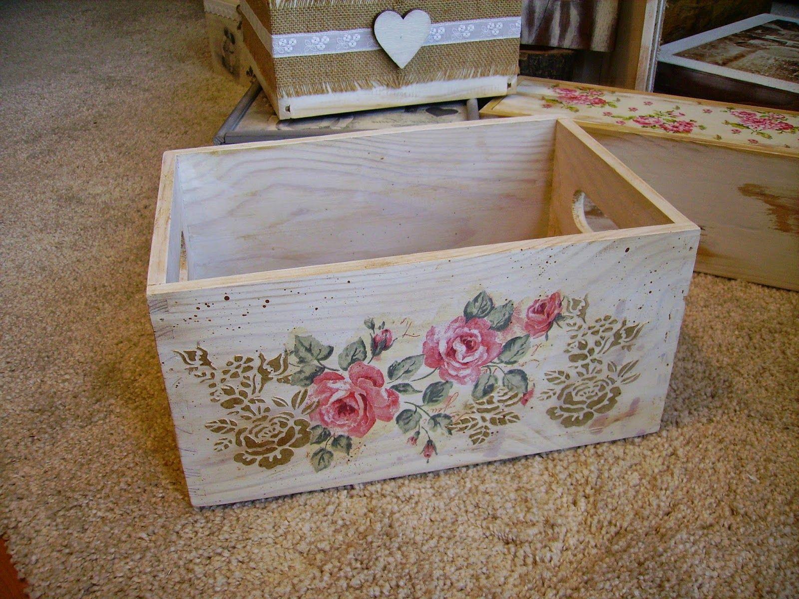 Retazos de madera artesan as decou - Decorar cajas de madera manualidades ...