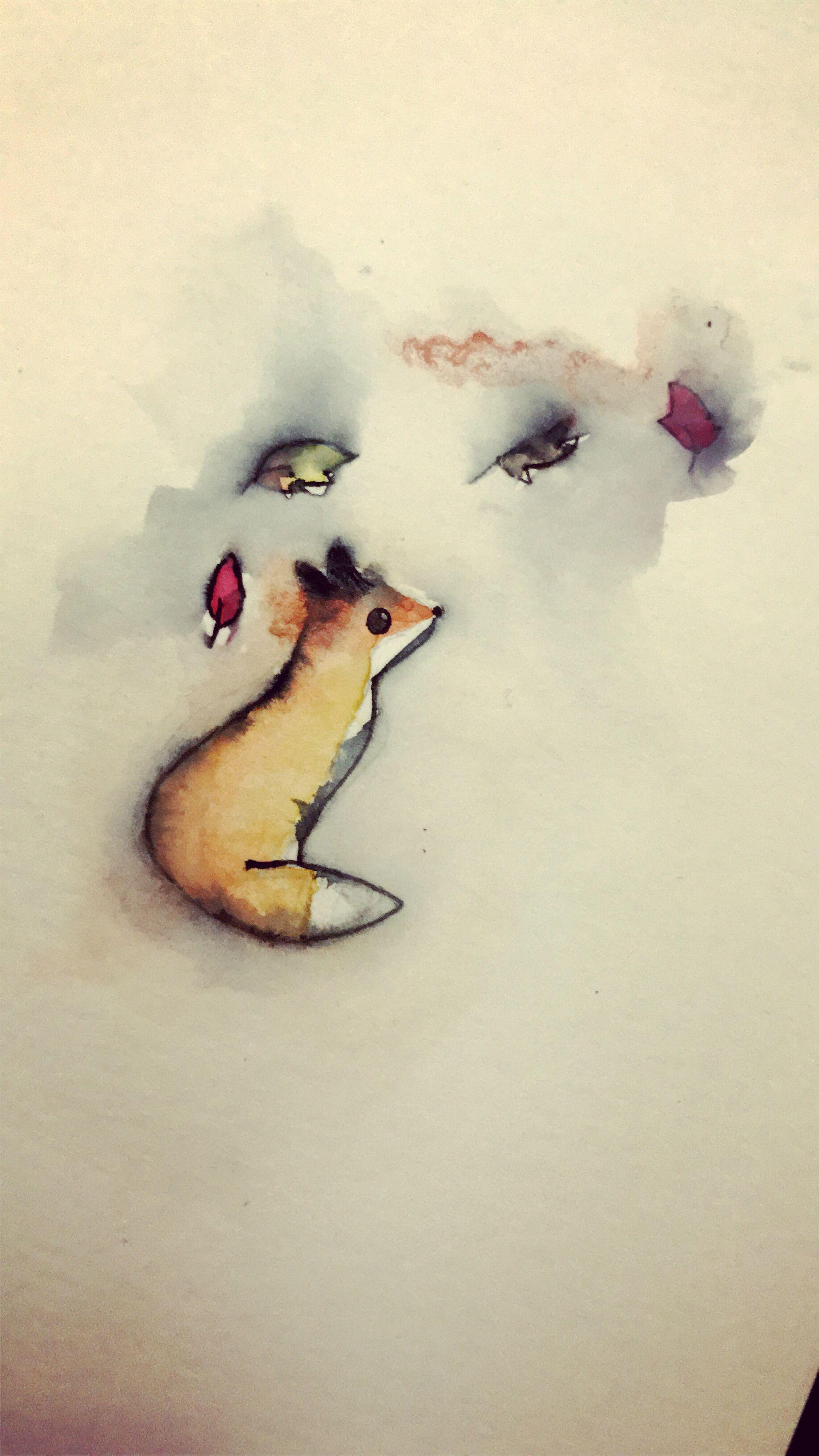 Cute Watercolor Fox Watercolor Fox Painting Watercolor