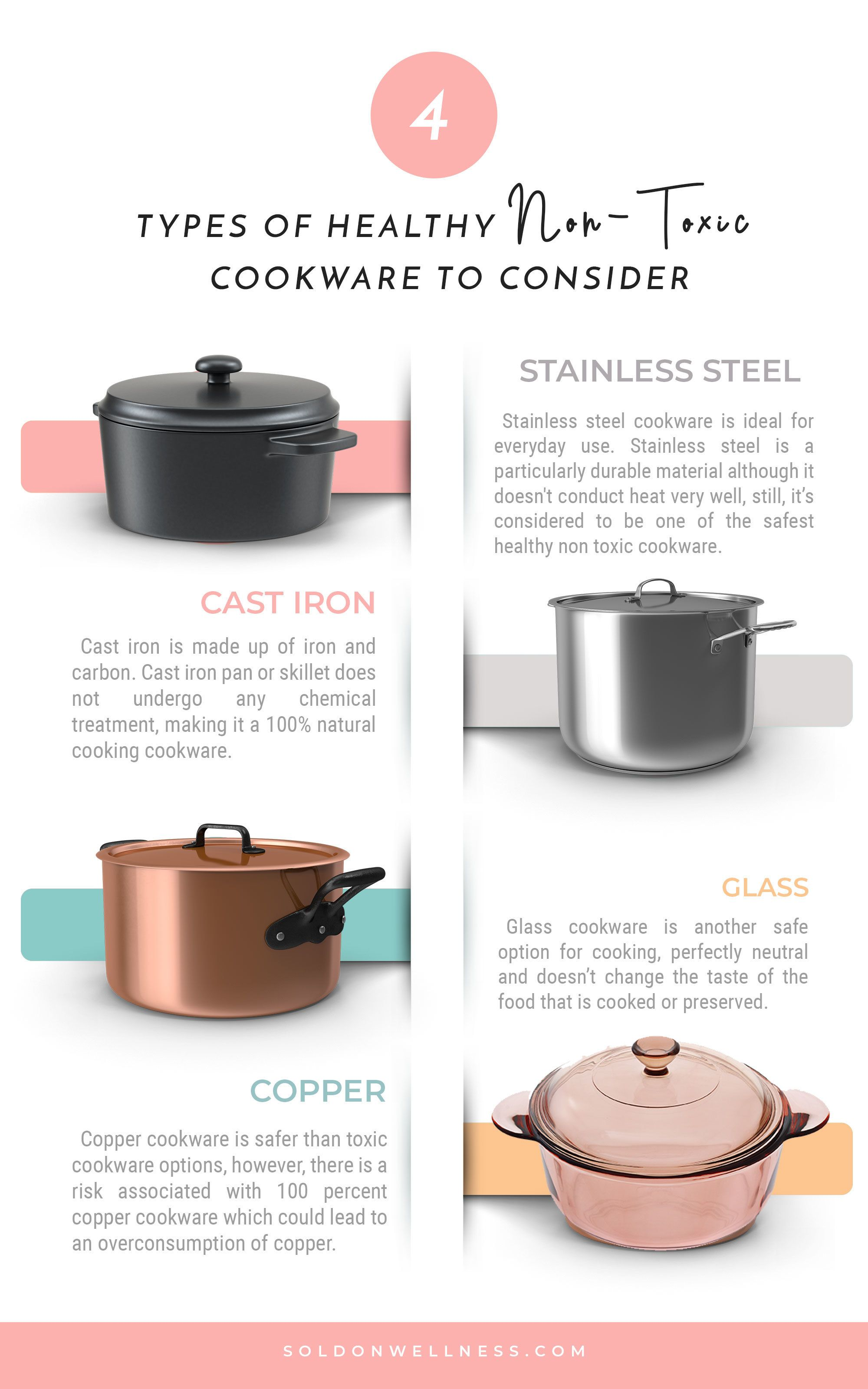 Types of Healthy Non-Toxic Cookware to Consider | Sold On