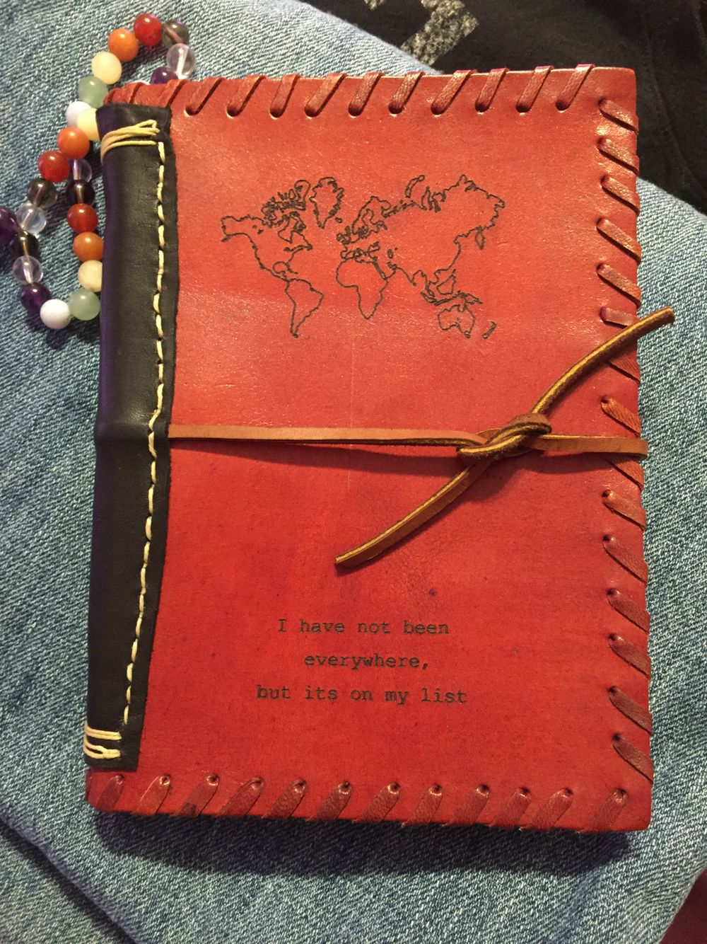 I added some extra leather to my adventure journal.