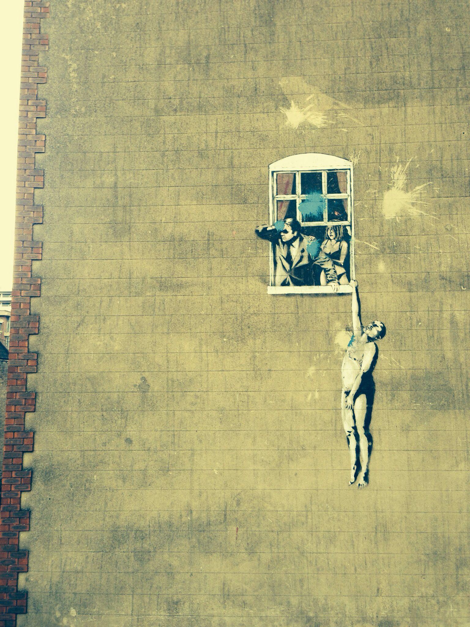 Well hung lover Banksy Bristol | Street-Art | Pinterest | Banksy ...