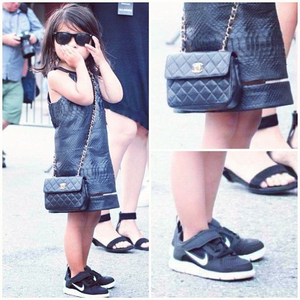 My Kid Will Wear Nikes With A Snakeskin Dress Chanel Bag And Ray Bans