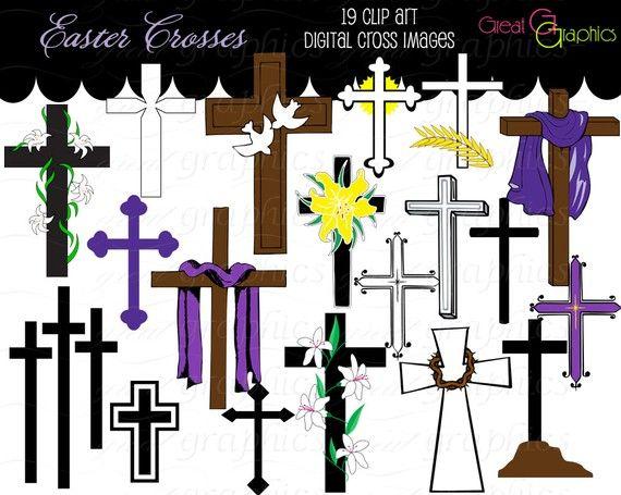Cross Clip Art Cross Digital Clip Art, Clipart Cross Easter Cross ...