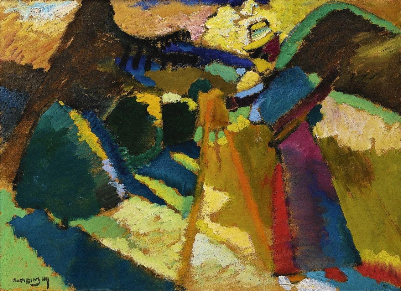 Wassily Kandinsky Russian 1866 1944 Gabriele Munter Im Freien