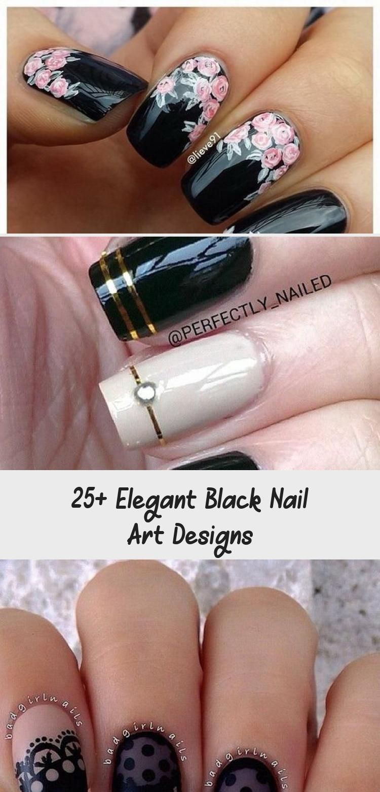 Photo of 25+ Elegant Black Nail Art Designs – Beauty