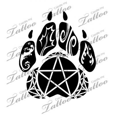 Native American Wolf Paw Tattoo Marketplace Tattoo Elemental Wolf Paw Wolf Paw Tattoos Wolf Paw Print Wolf Paw