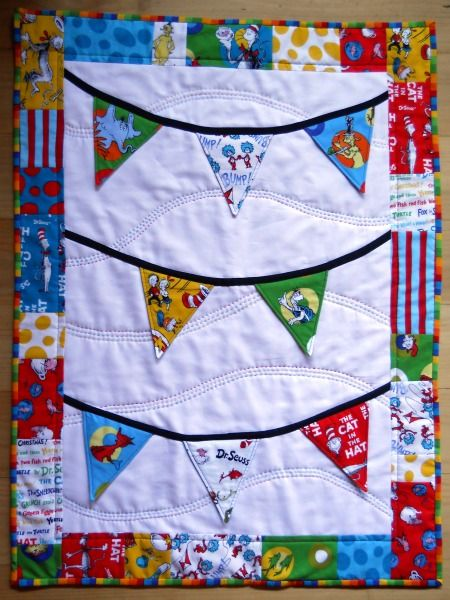 Adorable Dr. Seuss Quilt with a special surprise underneath the ... : dr seuss quilt fabric - Adamdwight.com