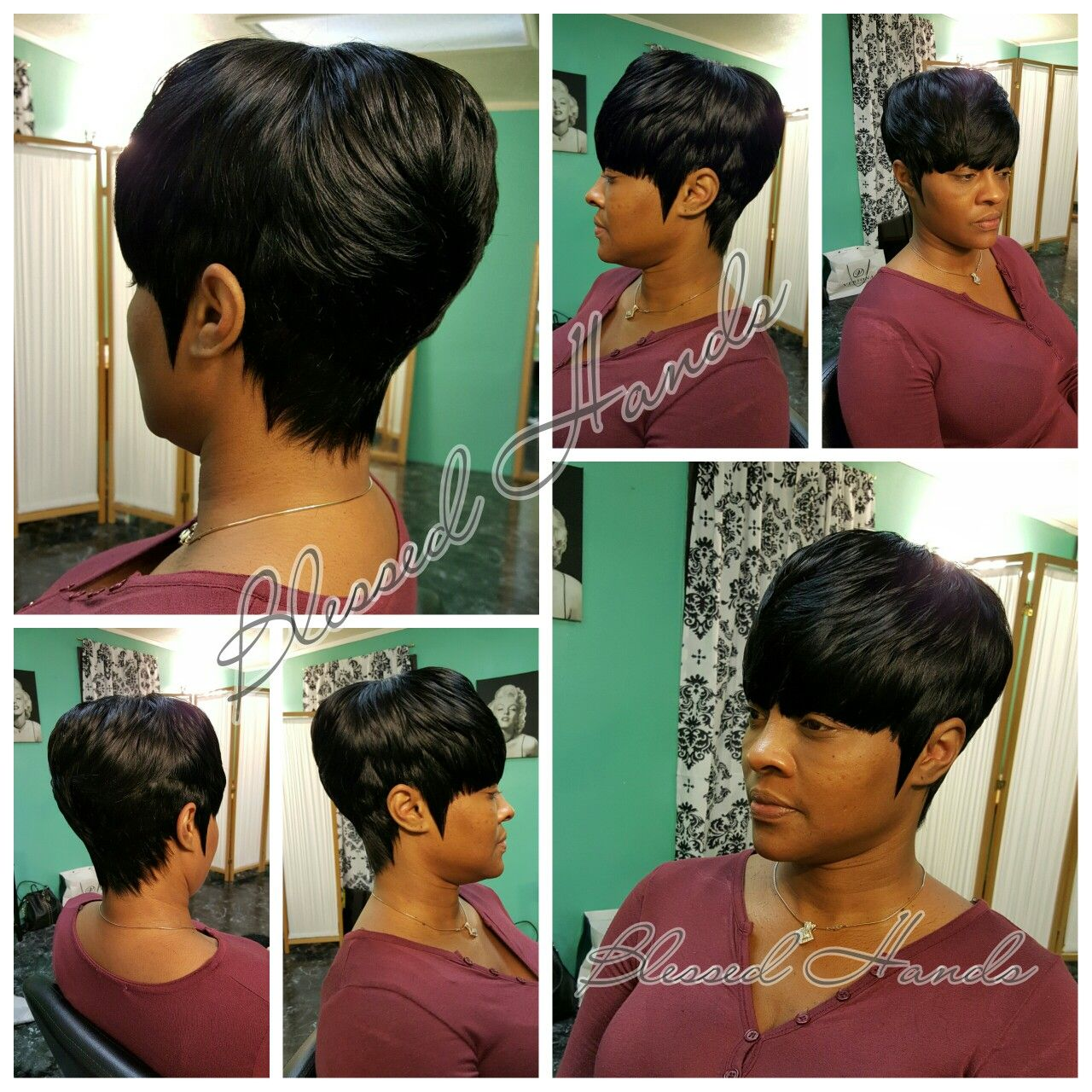Short Tara 28pc Quick Weave Blessed Hands Quick Weave Hairstyles Quick Weave Black Hairstyles With Weave