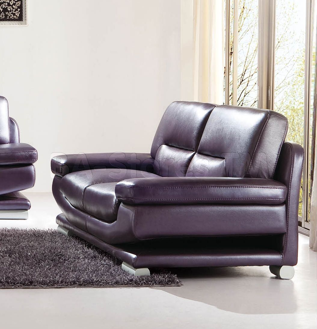Sale 2757 Modern Loveseat Purple Loveseats Esf 2757 Ls 5