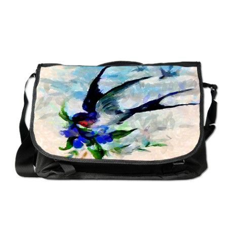 A gorgeous swallow themed messenger bag $88