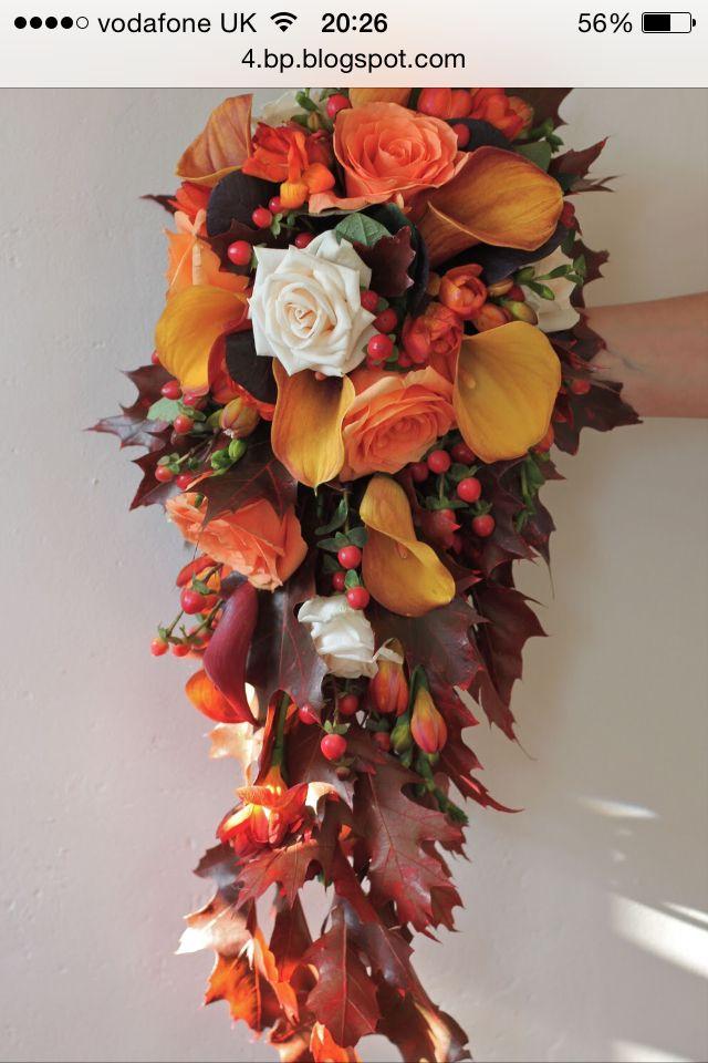 Bridal Bouquet Tear Shape Fall Wedding Bouquets Fall Wedding