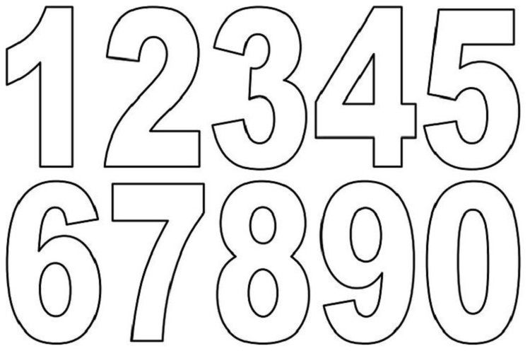 Numbers Coloring Pages Pdf Free Printable Numbers Printable Letters Printable Numbers