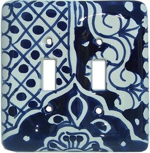 This ceramic double-toggle switch plate is a great example of the exquisite beauty Mexican craftsmen put into each item they create. The decoration is then drawn over the first coat of paint. You may find that it has some imperfections, due to its hand-made nature, but it is what makes it all the more unique. | eBay!