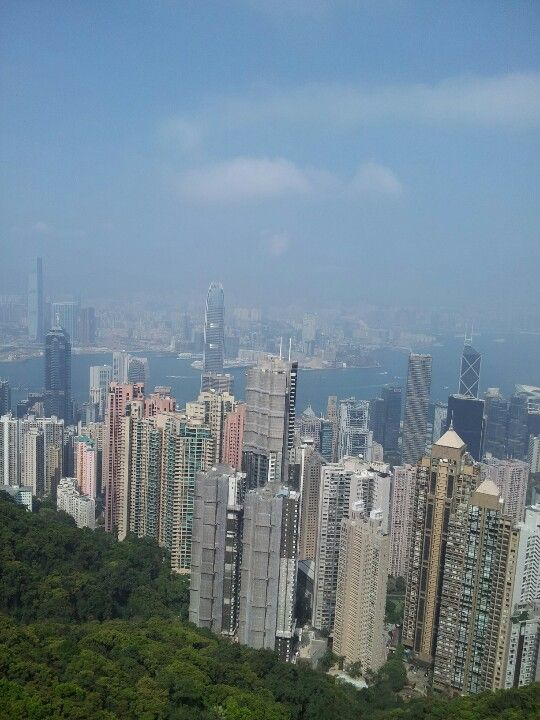 View from Victoria Peak in HK