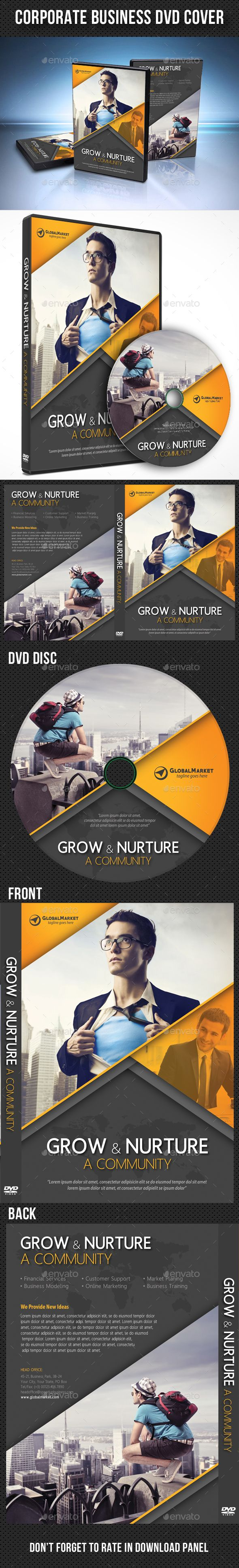 corporate business dvd cover template psd cd dvd cover templates