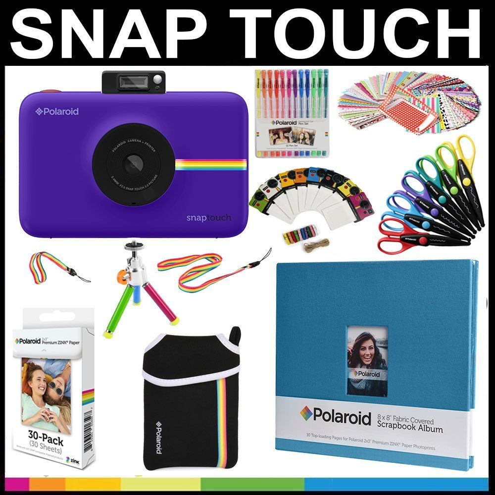 Polaroid Snap Touch Instant Camera Gift Bundle ZINK Paper (30 Sheets ...