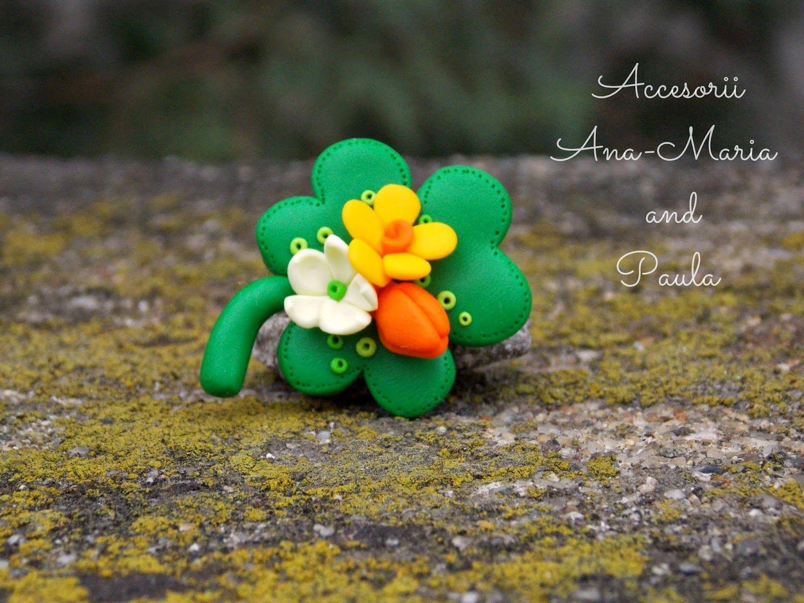 Trifoi Cu Flori Lucrat De Mană Flori Mestesugărie