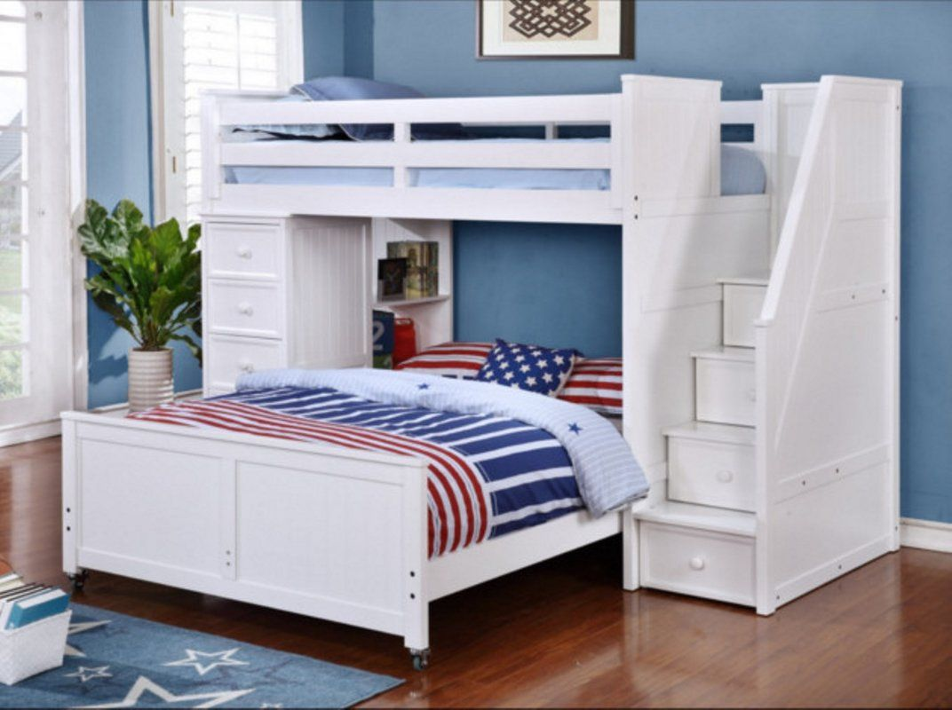 Loft over bedroom  L Shaped Bunk Beds Twin Over Full  Best Interior Paint Colors Check