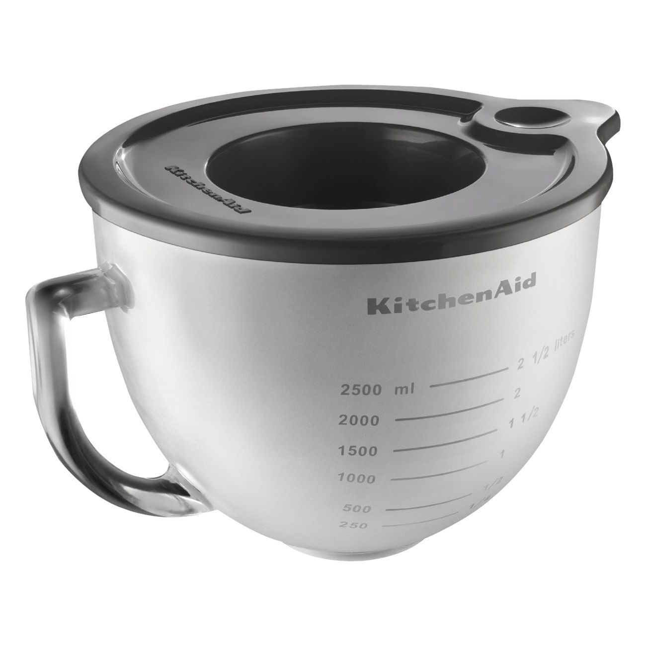 KitchenAid K5GBF 5 Quart Frosted Glass Bowl With Lid For Tilt Head Stand  Mixer, Clear