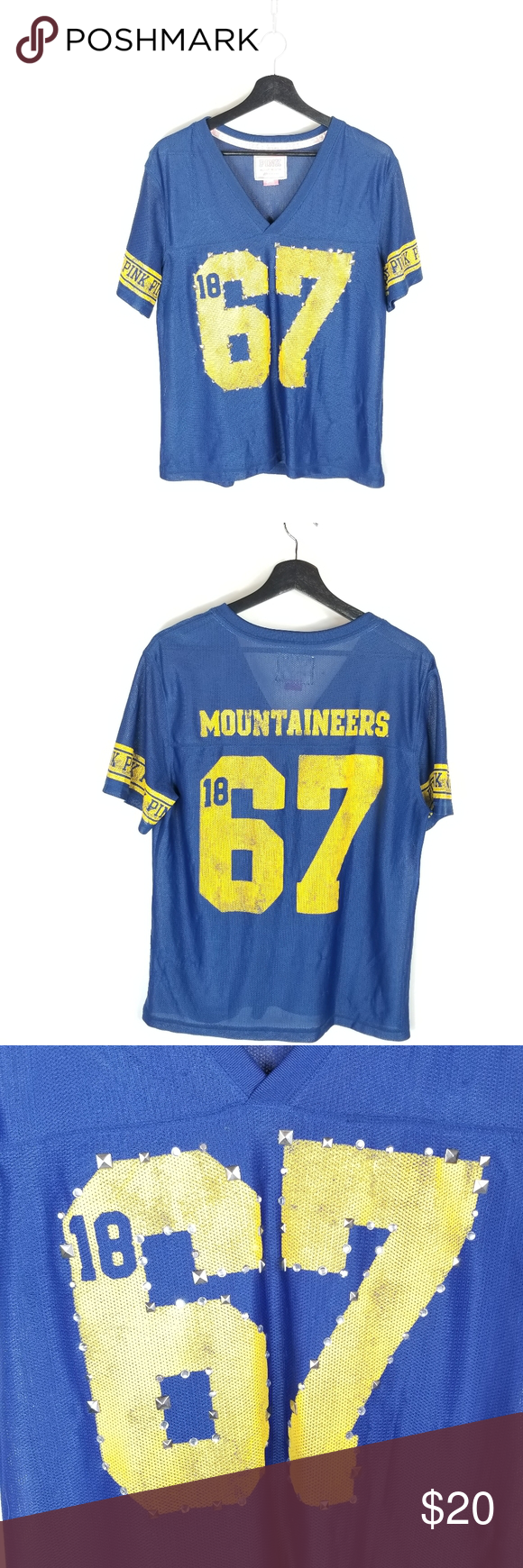 WVU Mountaineers VS PINK Jersey in With images