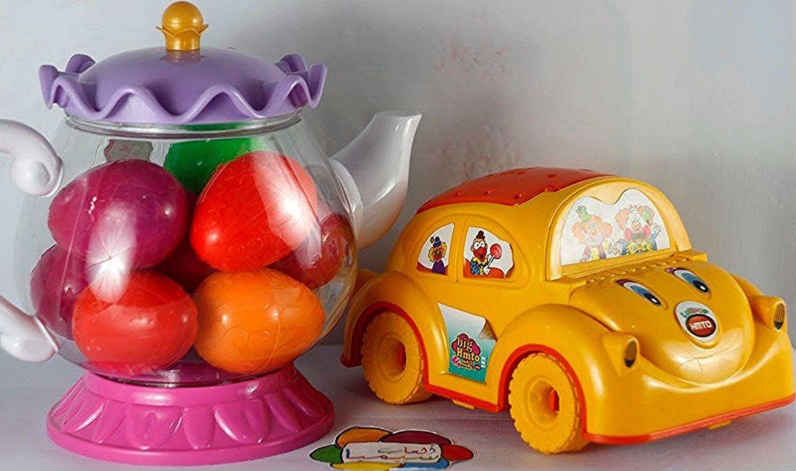 لعبة بيض المفاجات الكبير 12 بيضة مفاجآت كندر جوى سبرايز العاب الاطفال للاولاد والبنات Novelty Lamp Piggy Bank Decor
