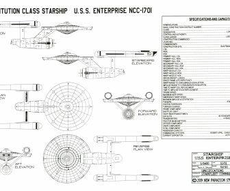 star trek uss enterprise schematics ncc 1701 blueprints HD Wallpaper