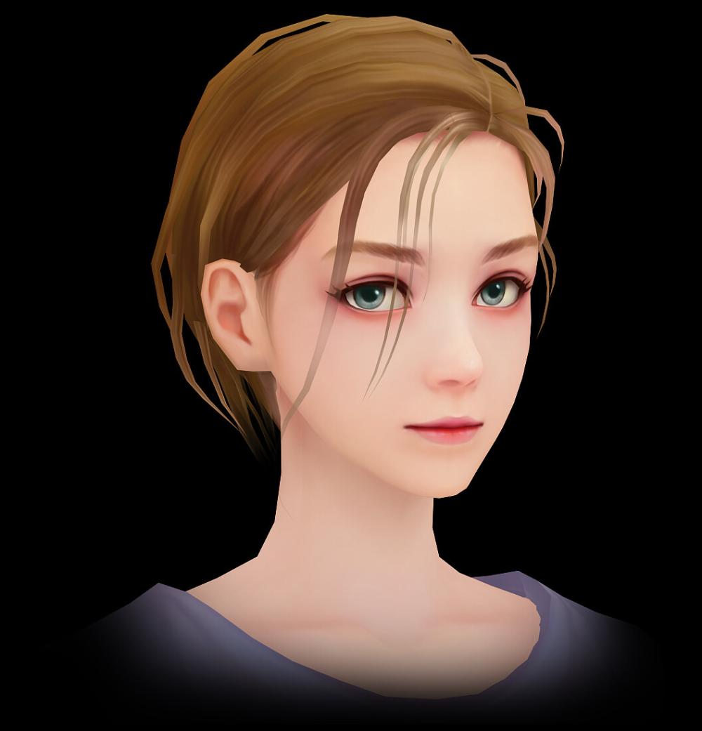 ArtStation 3D_Girl face_handpainted, Joker Y