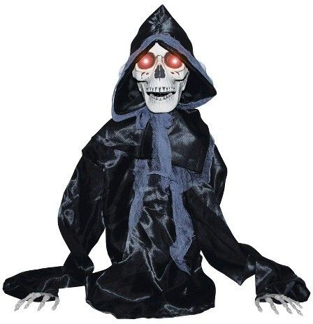 BuySeasons Halloween Rising Black Reaper Halloween Decorating - animated halloween decorations