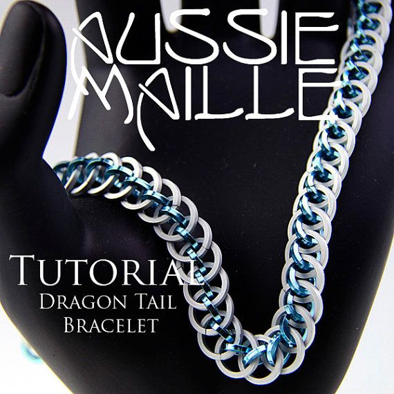 chainmaille tutorial dragon tail bracelet by aussiemaille