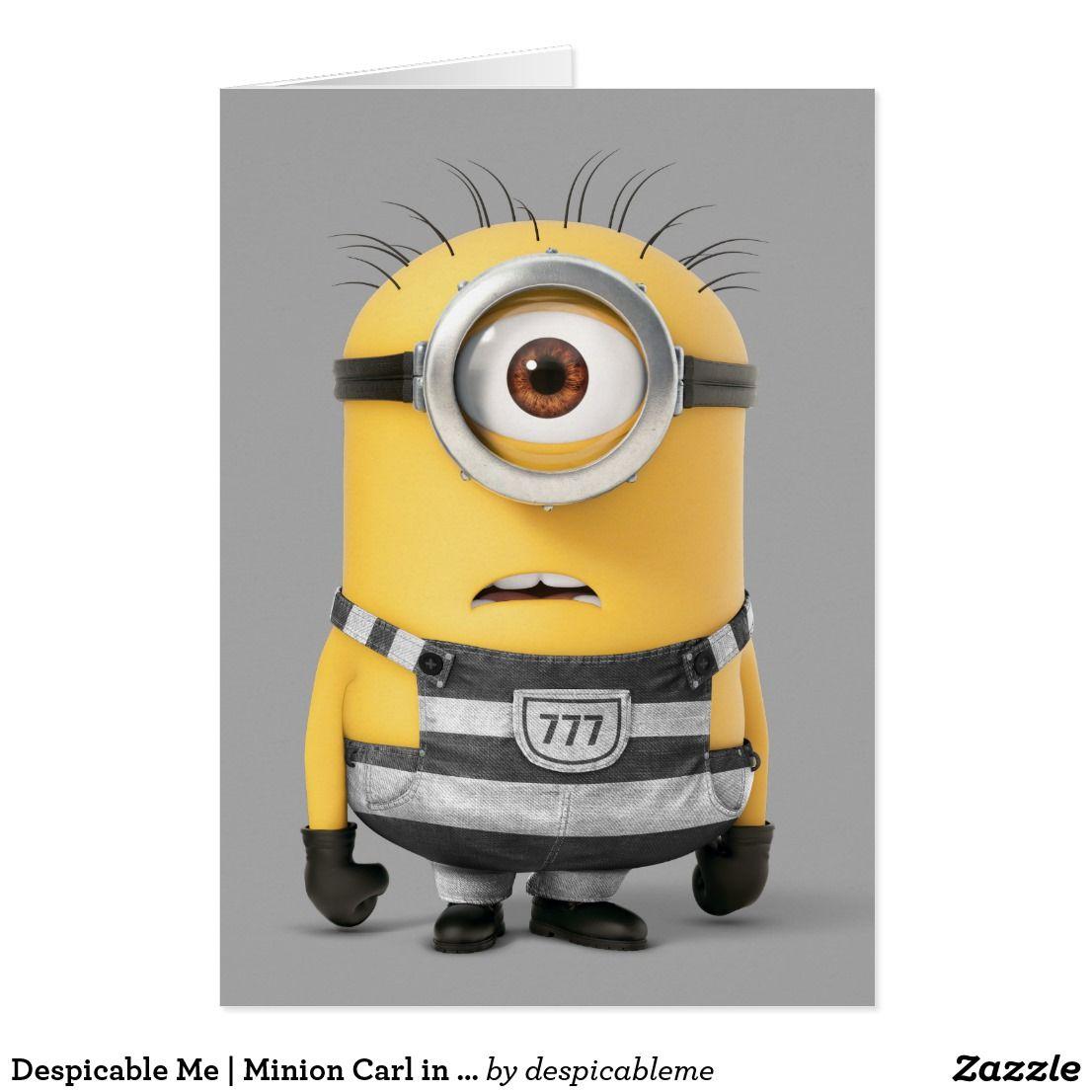 Despicable Me Minion Carl In Jail Zazzle Com Minions My Minion Minions Despicable Me