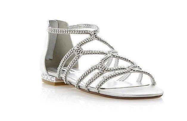 4b508ba26 Pin for Later: The Ultimate Guide to Flat Wedding Shoes Dune Silver Caged  Diamante Flat Sandals Dune Silver Caged Diamante Flat Sandals (£79)