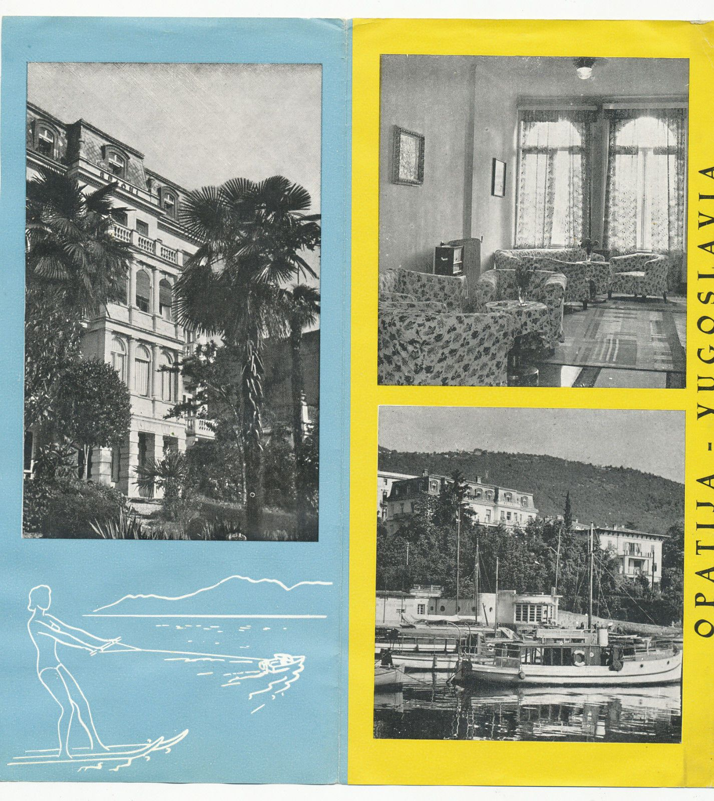 Hotel Brioni Miran Opatija Croatia Yugoslavia Vintage Brochure Prospect Vintage Old Pictures Croatia