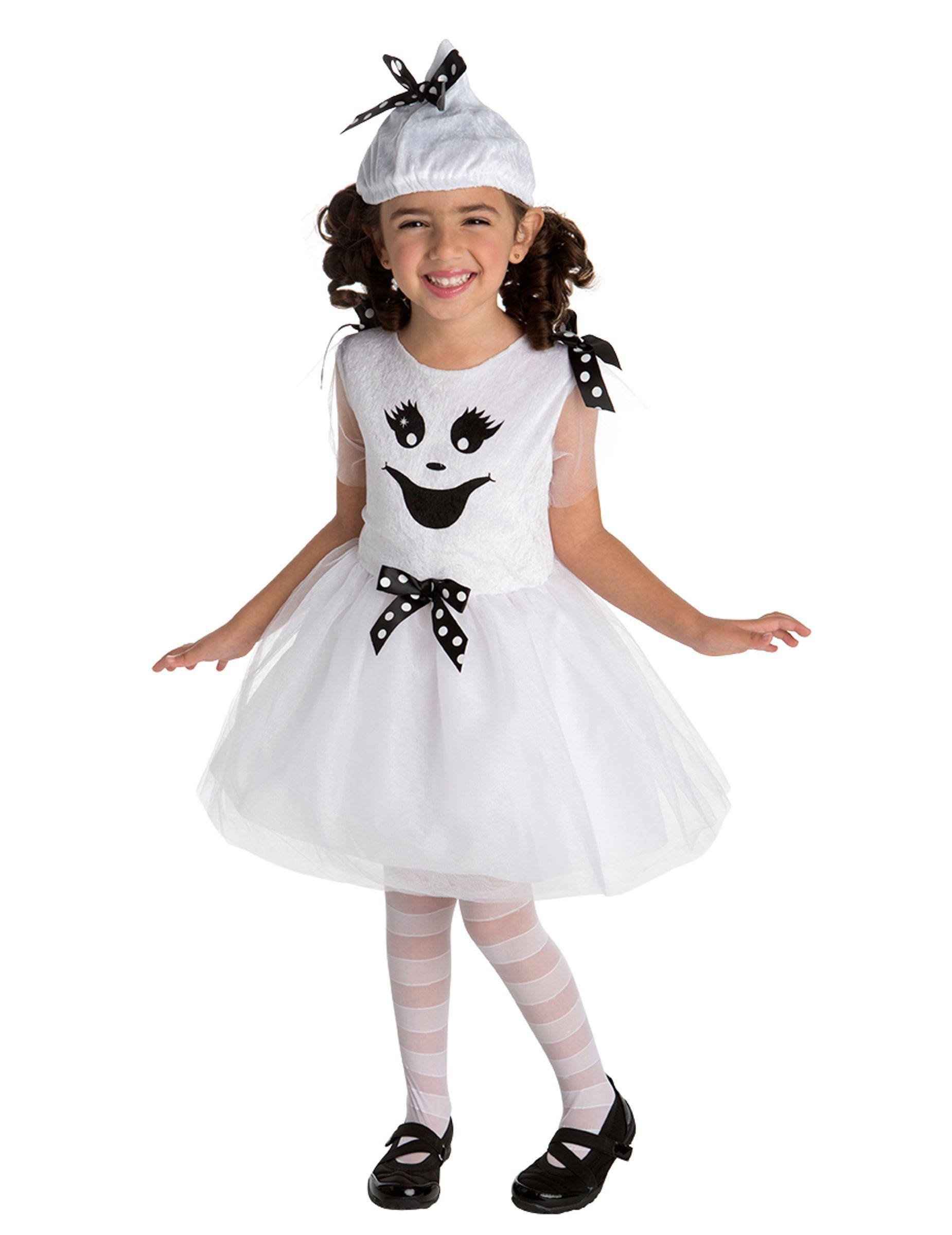 3e4b356c1 Disfraz de fantasma niña: Este disfraz de fantasma para niña incluye  vestido…