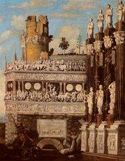 Fantastic Architecture with the Legend of St.George 1622   88.5 x 71 cm