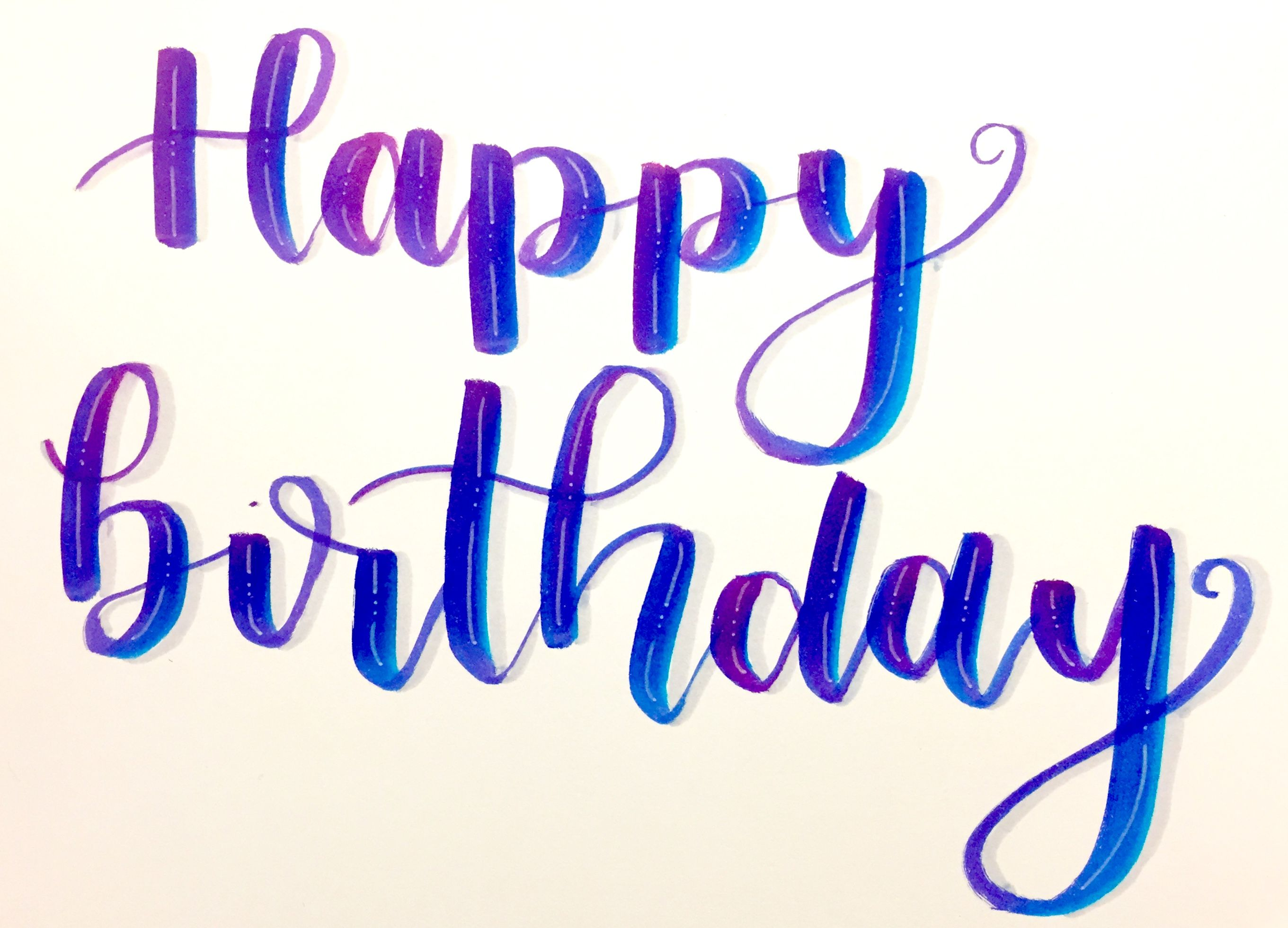 Happy Birthday Hand Lettering With Tombow Brush Pens