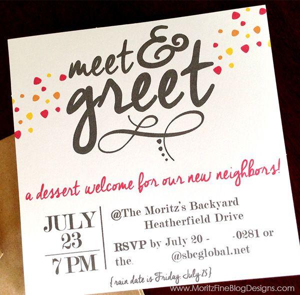 Meet \ Greet Free Printable Invitation Free printable - business meet and greet invitation wording