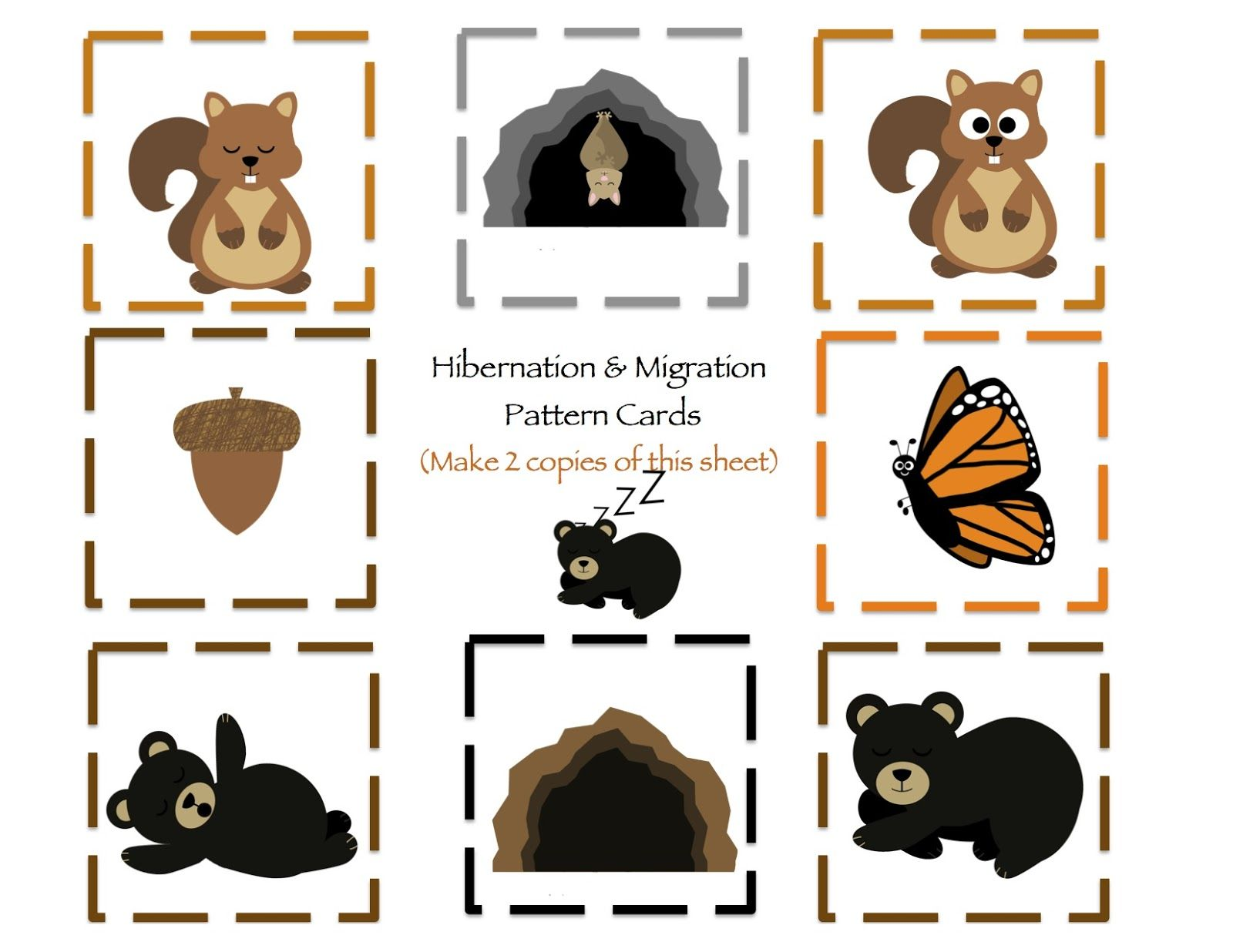 Hibernation Amp Migration Printable With Images