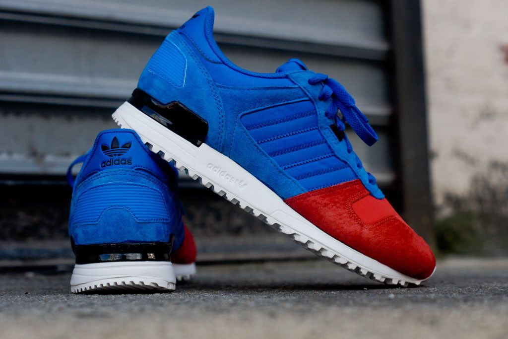 New Highend Adidas Zx 700 Retro Trainers Shoes Blue Mens Red
