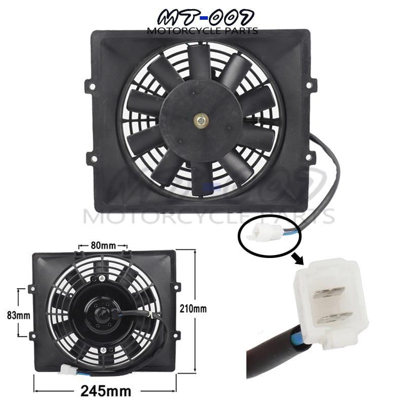 Motorcycle Water Cooler Radiato Fan For Zongshen Loncin Lifan Fan