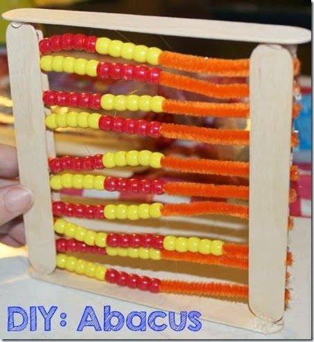 fun and easy crafts preschool math activity diy abacus abacus math math 4519